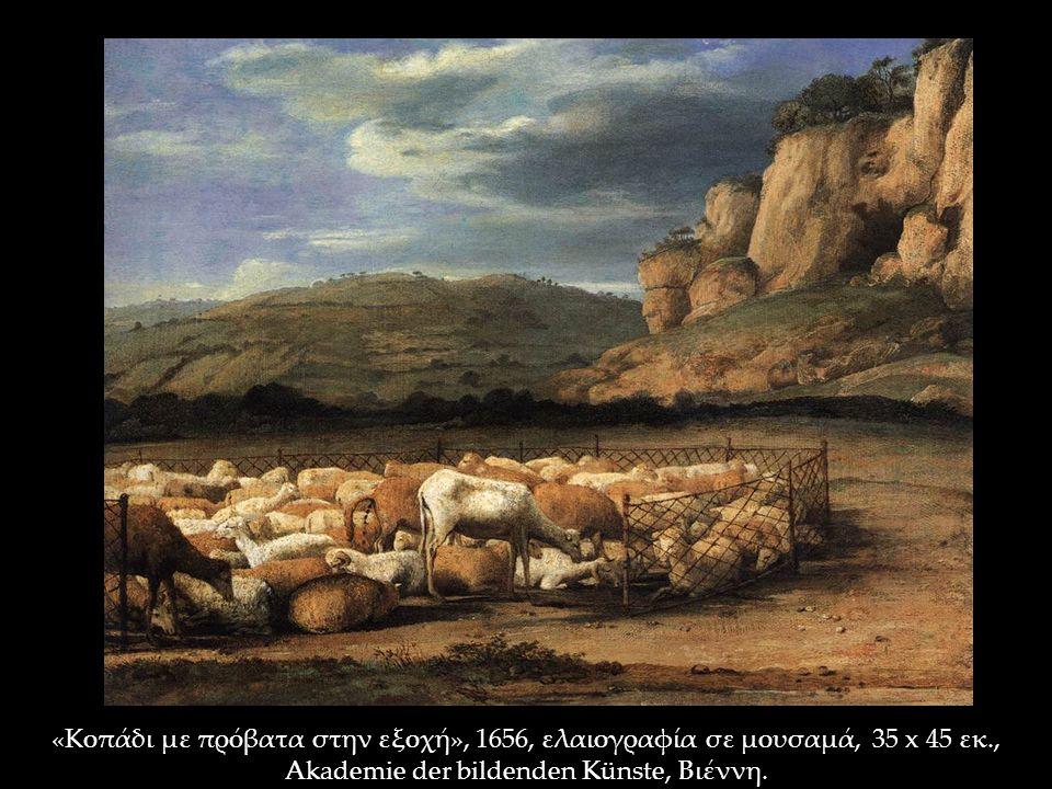 «Κοπάδι με πρόβατα στην εξοχή», 1656, ελαιογραφία σε μουσαμά, 35 x 45 εκ., Akademie der bildenden Künste, Βιέννη.