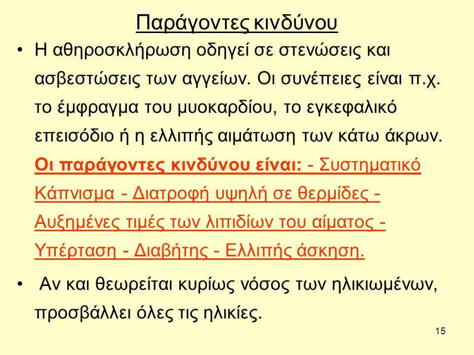 14 Αθηροσκλήρωση Ποια είναι η διαφορά μεταξύ αρτηριοσκλήρωσης και Αθηροσκλήρωσης.