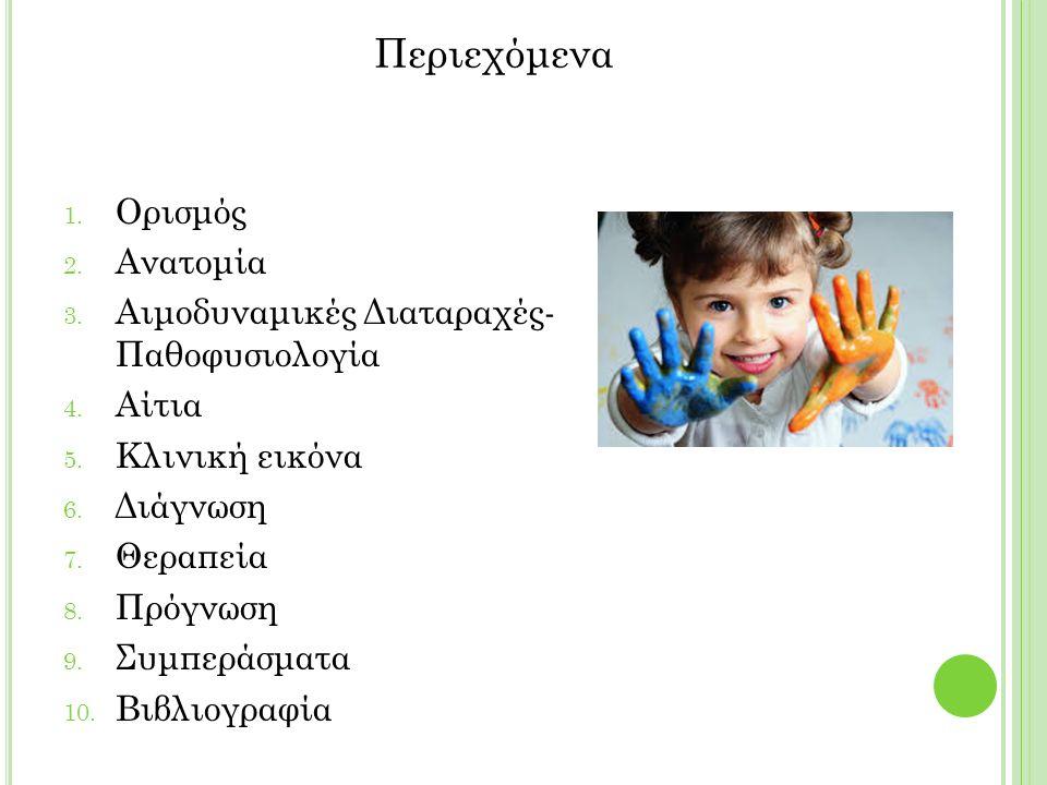 1. Ορισμός 2. Ανατομία 3. Αιμοδυναμικές Διαταραχές- Παθοφυσιολογία 4.