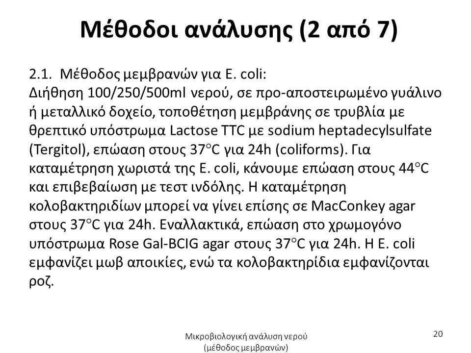 Μέθοδοι ανάλυσης (2 από 7) 2.1. Μέθοδος μεμβρανών για Ε.