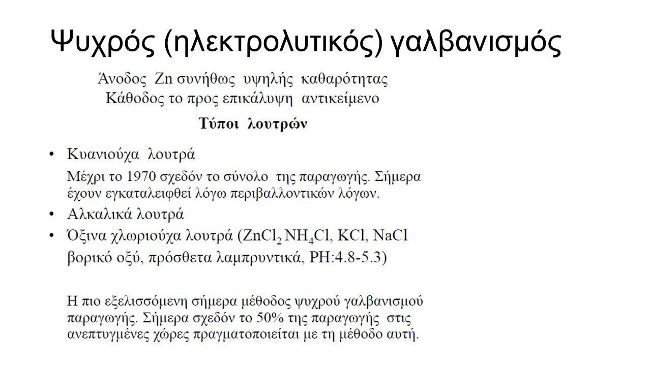 Ψυχρός (ηλεκτρολυτικός) γαλβανισμός
