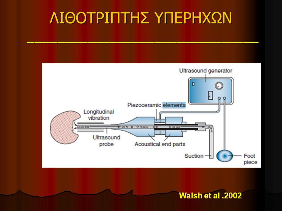 ΛΙΘΟΤΡΙΠΤΗΣ ΥΠΕΡΗΧΩΝ _______________________________ Walsh et al.2002
