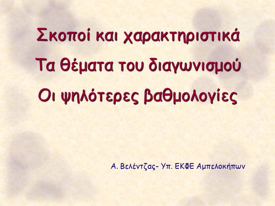 Διαγωνισμός Νότιας Ελλάδας ΧΡΟΝΟΣ: 23 Ιανουαρίου 2016 ΤΟΠΟΣ: Ε.Κ.Φ.Ε.