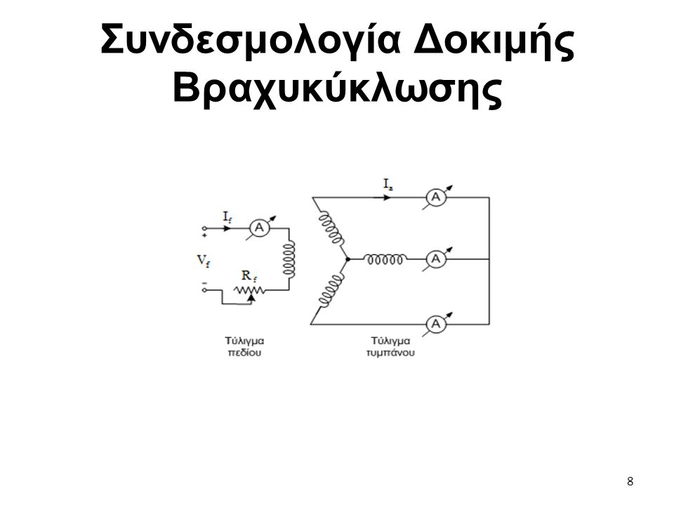 Συνδεσμολογία Δοκιμής Βραχυκύκλωσης 8