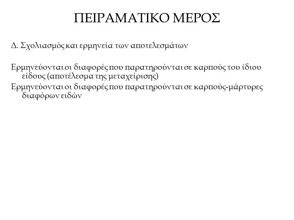 ΠΕΙΡΑΜΑΤΙΚΟ ΜΕΡΟΣ Δ.