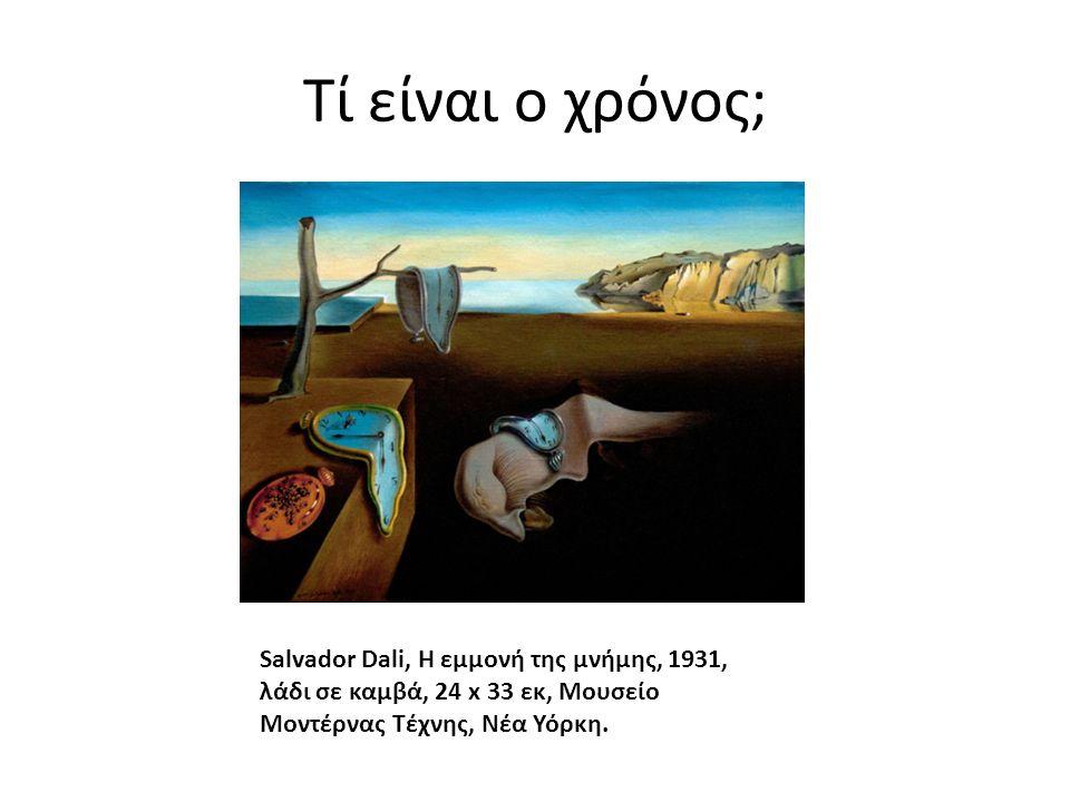Τί είναι ο χρόνος; Salvador Dali, Η εμμονή της μνήμης, 1931, λάδι σε καμβά, 24 x 33 εκ, Μουσείο Μοντέρνας Τέχνης, Νέα Υόρκη.