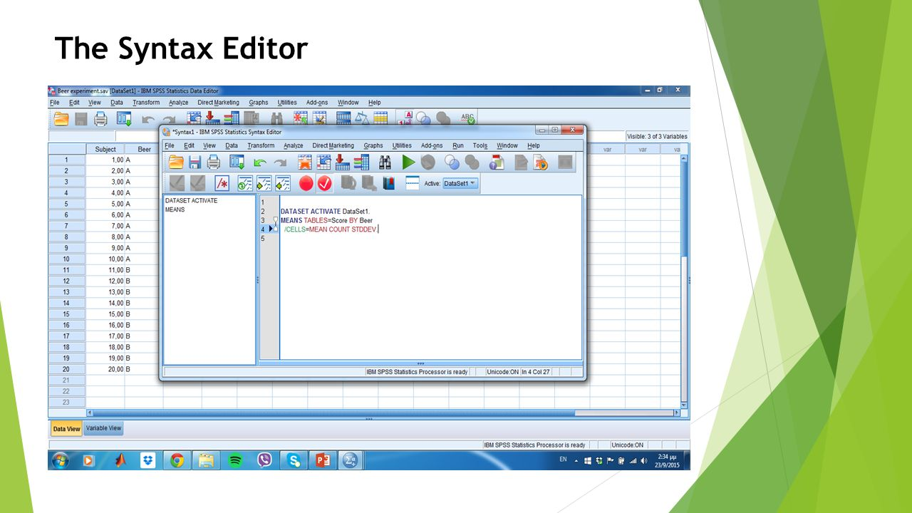The Syntax Editor