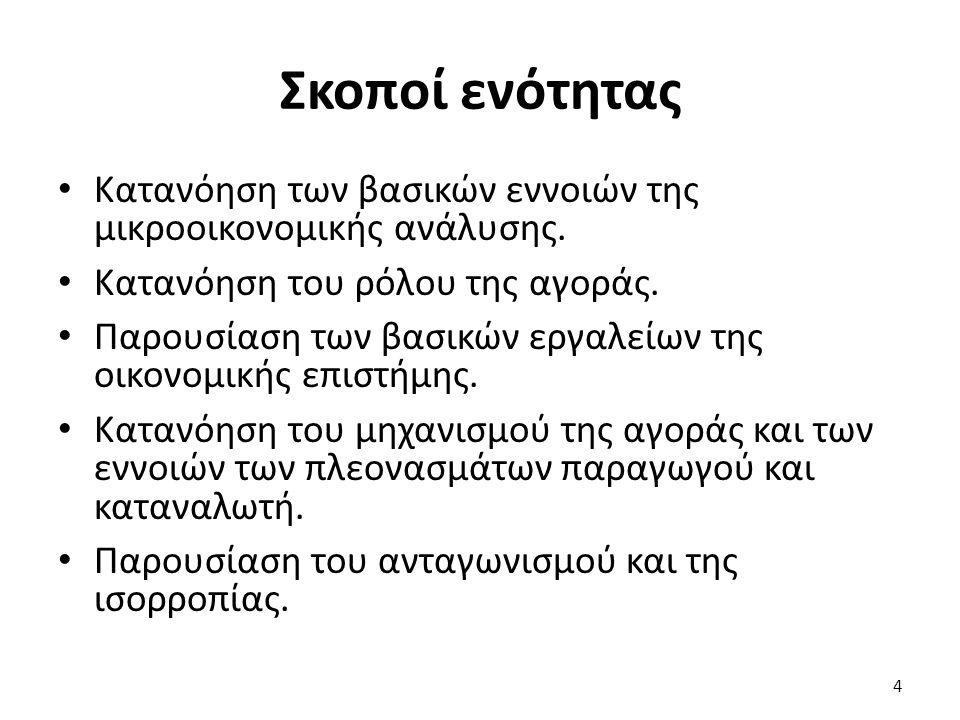 Περιεχόμενα ενότητας (1 από 3) Τι είναι η οικονομική επιστήμη; Παραδείγματα.