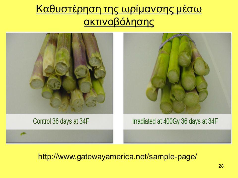 28 Καθυστέρηση της ωρίμανσης μέσω ακτινοβόλησης http://www.gatewayamerica.net/sample-page/