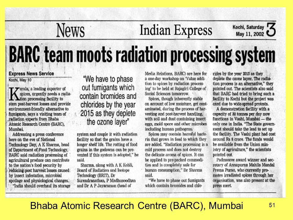 51 Bhaba Atomic Research Centre (BARC), Mumbai