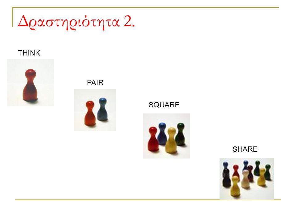 Δραστηριότητα 2. SHARE SQUARE PAIR THINK