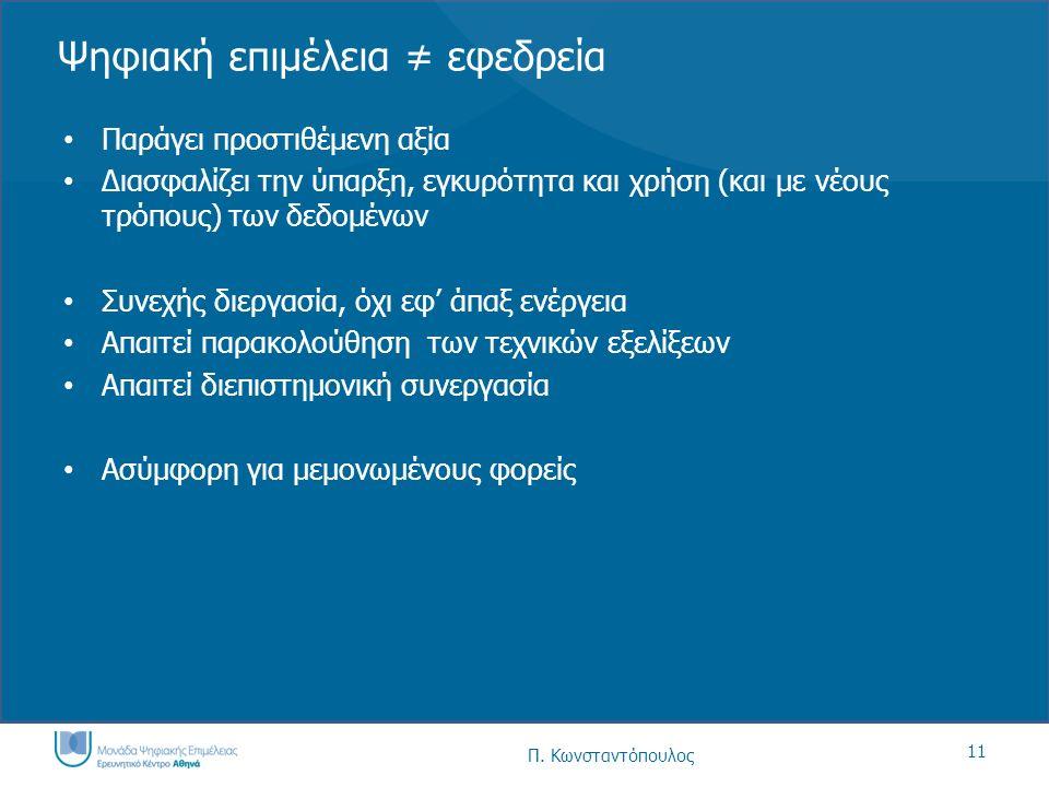 12 Π.Κωνσταντόπουλος Η Μονάδα Ψηφιακής Επιμέλειας – Ε.Κ.