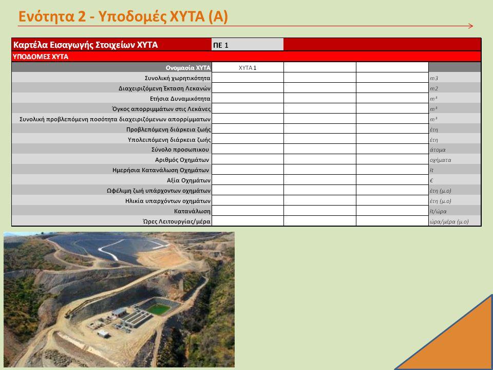 Ενότητα 2 - Υποδομές ΧΥΤΑ (Α)