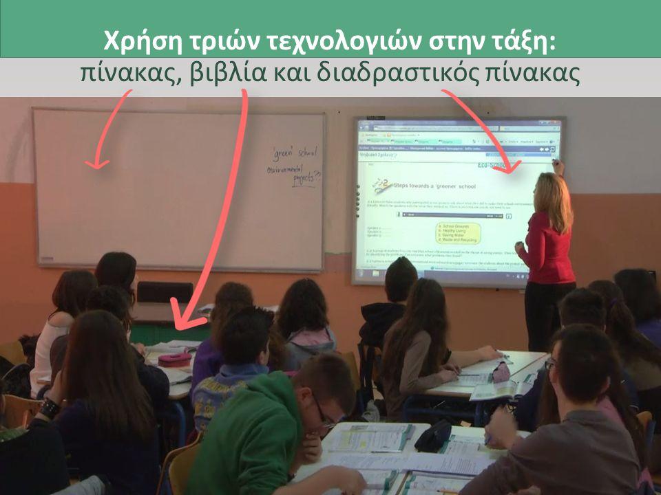 Χρήση τριών τεχνολογιών στην τάξη: πίνακας, βιβλία και διαδραστικός πίνακας