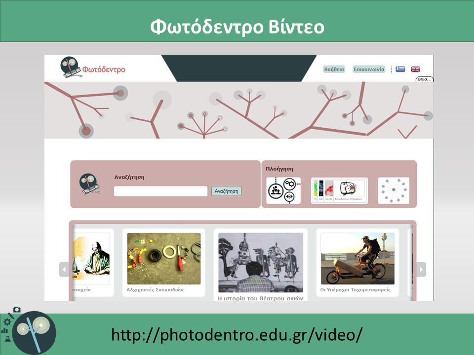 Φωτόδεντρο Βίντεο http://photodentro.edu.gr/video/