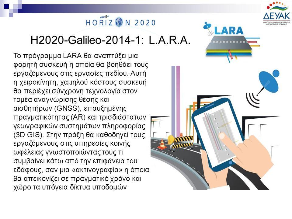 Το πρόγραμμα LARA θα αναπτύξει μια φορητή συσκευή η οποία θα βοηθάει τους εργαζόμενους στις εργασίες πεδίου. Αυτή η χειροκίνητη, χαμηλού κόστους συσκε