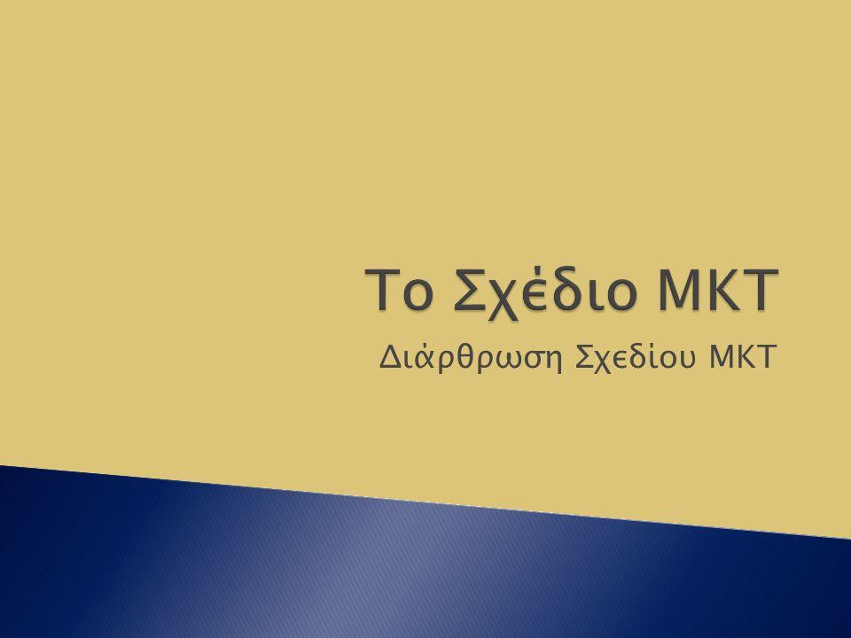 Διάρθρωση Σχεδίου ΜΚΤ