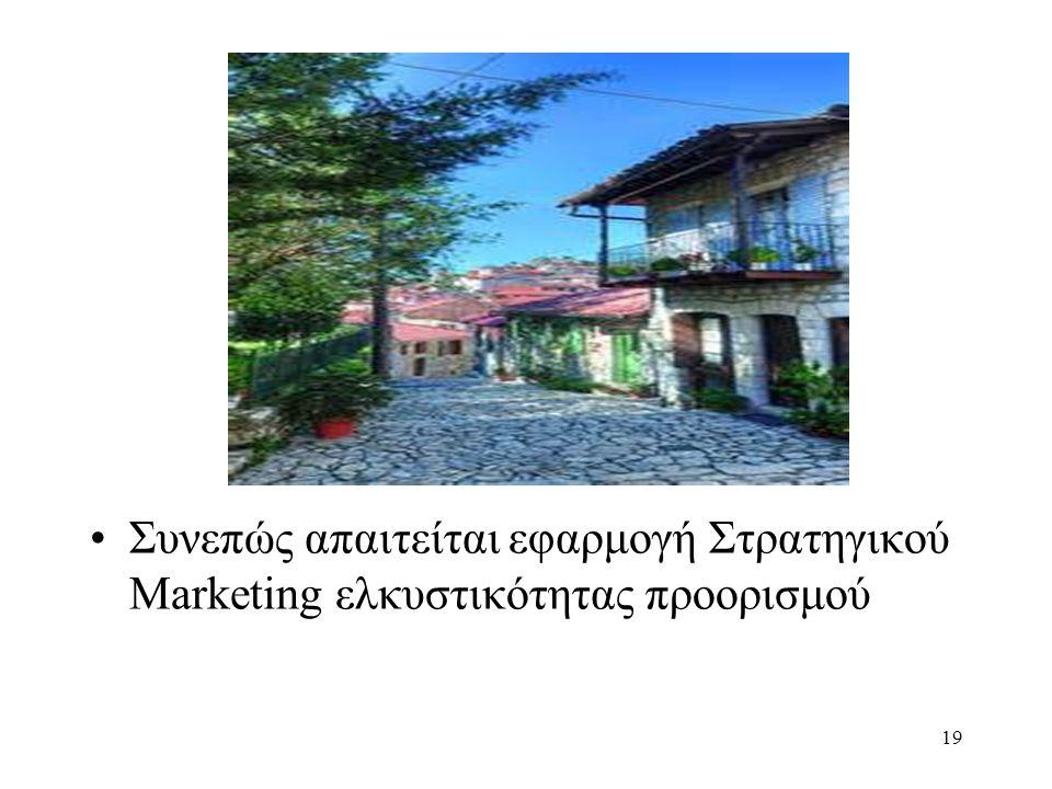 Συνεπώς απαιτείται εφαρμογή Στρατηγικού Marketing ελκυστικότητας προορισμού 19