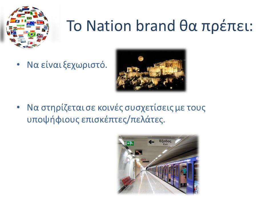 Το Nation brand θα πρέπει: Να είναι ξεχωριστό.
