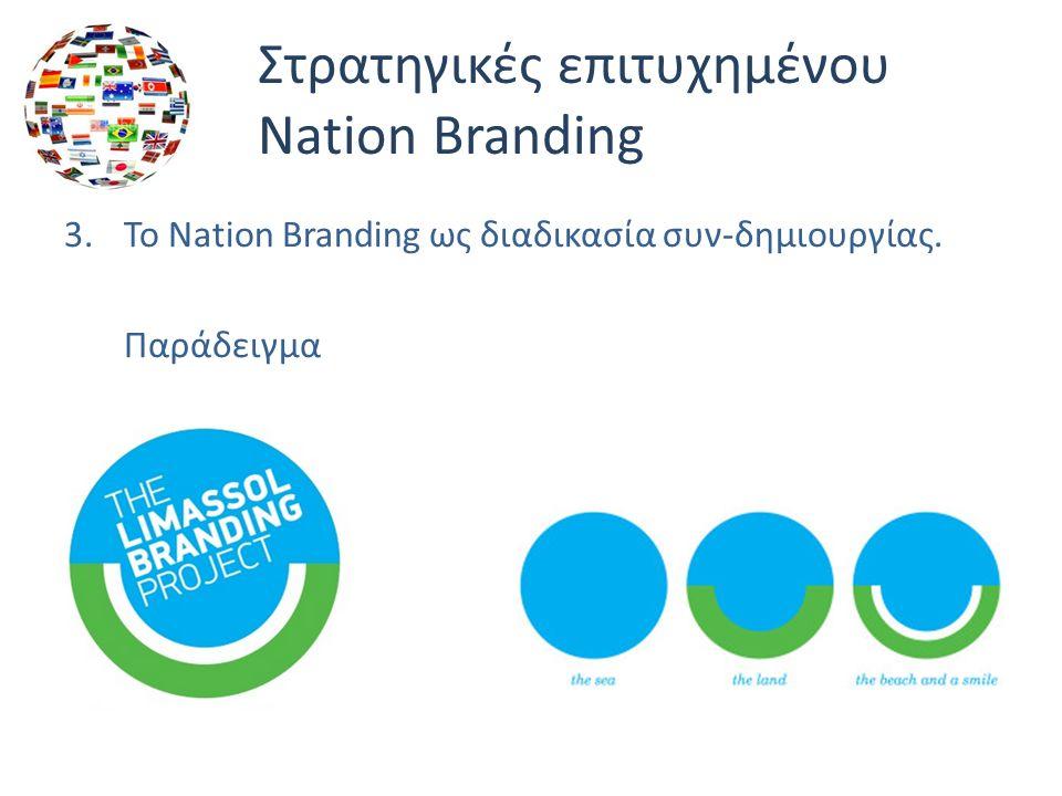 Στρατηγικές επιτυχημένου Nation Branding 3.Το Nation Branding ως διαδικασία συν-δημιουργίας.
