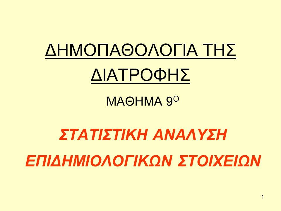 72 (α) Λεπτόκυρτη κατανομή, (β) κανονική κατανομή, (γ) πλατύκυρτη κατανομή