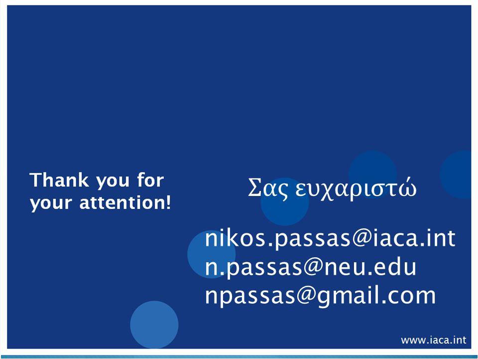 nikos.passas@iaca.int n.passas@neu.edu npassas@gmail.com Σας ευχαριστώ