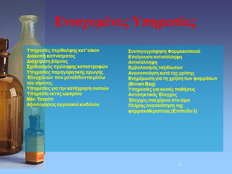 7 -Βελτιστοποίηση της χρήσης φαρμάκων - Αυτονομία -Πιο υγιείς τρόποι ζωής Αυτοφροντίδα