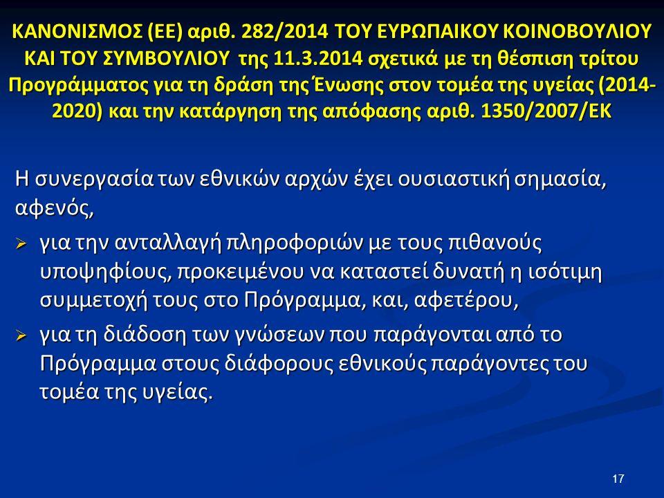 ΚΑΝΟΝΙΣΜΟΣ (ΕΕ) αριθ.