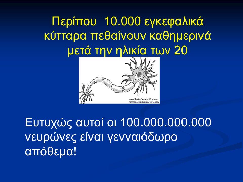 Ευτυχώς αυτοί οι 100.000.000.000 νευρώνες είναι γενναιόδωρο απόθεμα.