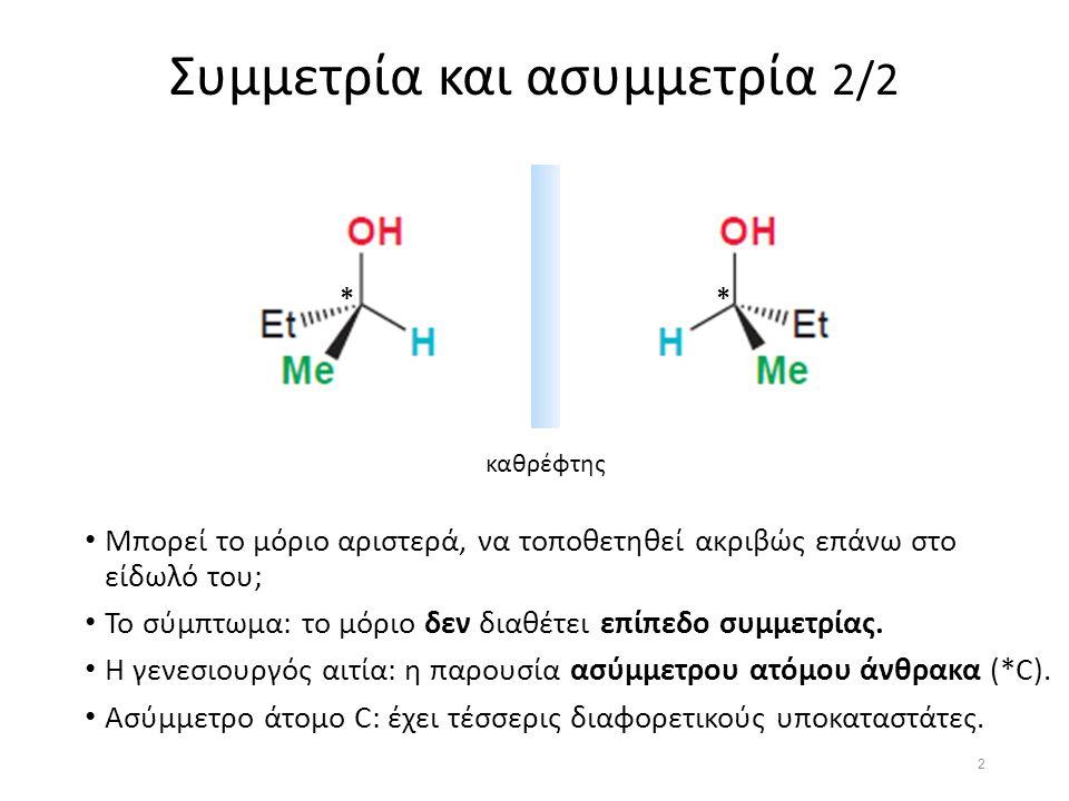 Οπτική στροφική ικανότητα 1.Πηγή φωτός 2.Φυσικό φως 3.Πολωτής 4.Επίπεδα πολωμένο φως 5.Χώρος δείγματος 6.Οπτικά ενεργό δείγμα 7.επίπεδα πολωμένο φως με στραμμένο το επίπεδο πόλωσης 7 Οι υδατάνθρακες, επειδή έχουν ασύμμετρα άτομα άνθρακα εμφανίζουν οπτική στροφική ικανότητα, και συνεπώς καλούνται οπτικώς ενεργοί.