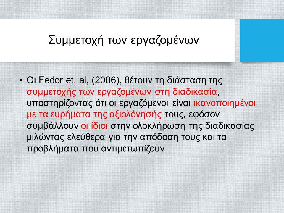 Συμμετοχή των εργαζομένων Οι Fedor et.