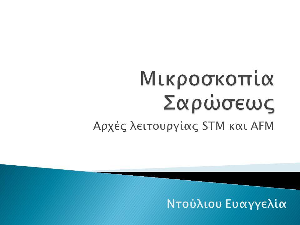Αρχές λειτουργίας STM και AFM Ντούλιου Ευαγγελία
