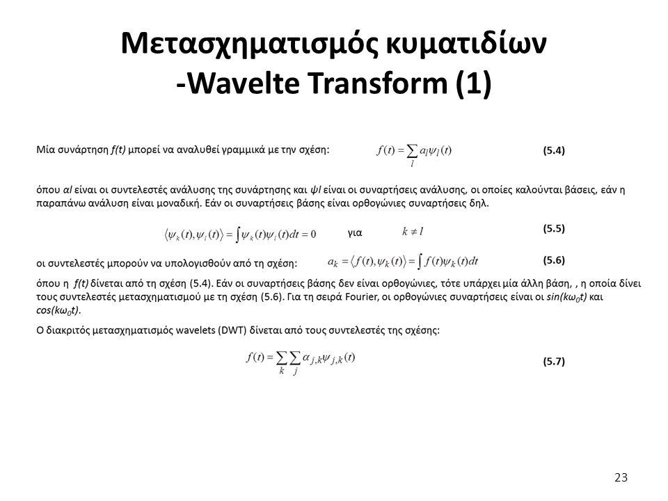 Μετασχηματισμός κυματιδίων -Wavelte Transform (1) 23
