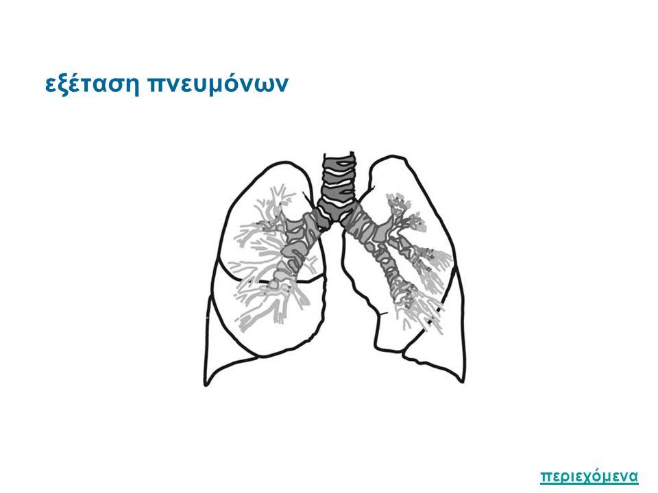 εξέταση πνευμόνων περιεχόμενα
