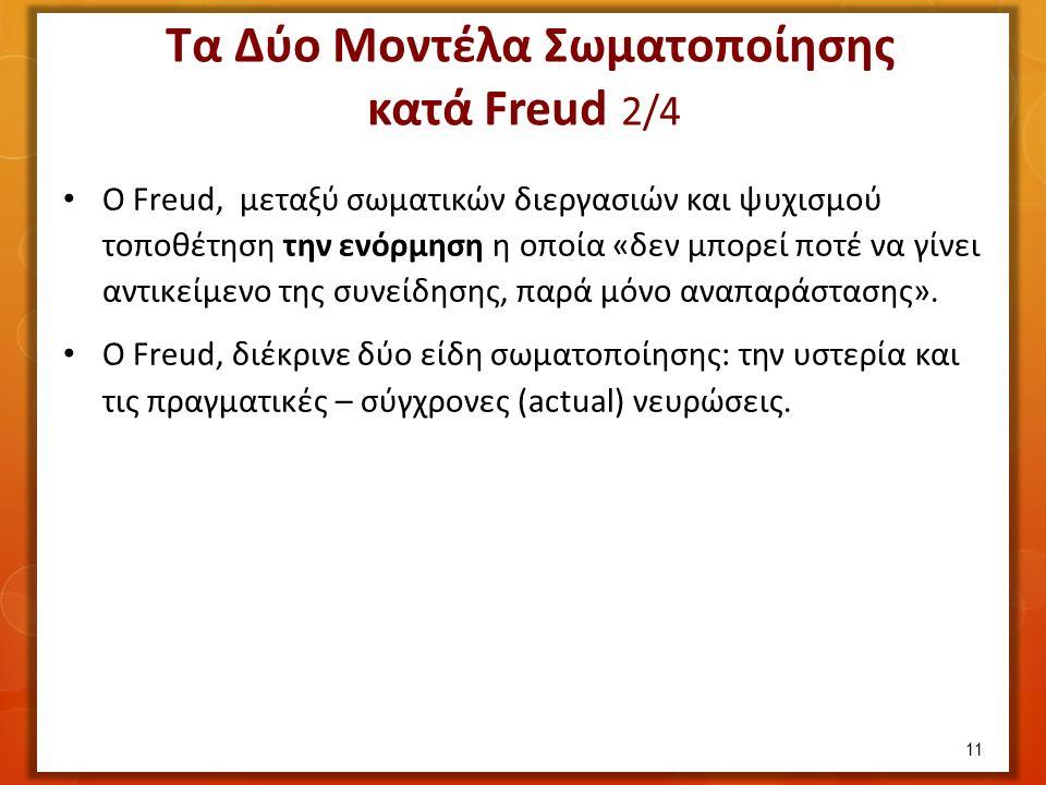 Ο Freud, μεταξύ σωματικών διεργασιών και ψυχισμού τοποθέτηση την ενόρμηση η οποία «δεν μπορεί ποτέ να γίνει αντικείμενο της συνείδησης, παρά μόνο αναπαράστασης».
