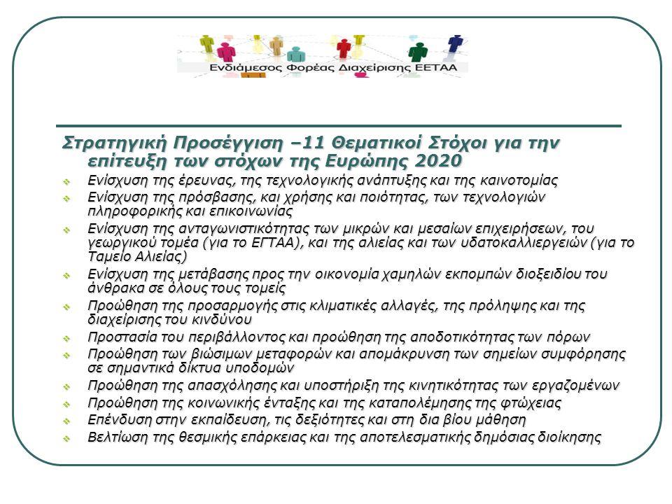 Επενδυτικές προτεραιότητες που προτείνει :  Περιβάλλον φιλικό προς την επιχειρηματικότητα  Αύξηση συμμετοχής στην αγορά εργασίας, ενεργός συμμετοχή και ενδυνάμωση πολιτικών εκπαιδευτικών ικανοτήτων & δεξιοτήτων  Αποδοτικό & αποτελεσματικό δίκτυο έργων βασικών υποδομών  Αποτελεσματική χρήση φυσικών πόρων στην οικονομία, φιλικών προς το περιβάλλον  Μεταρρυθμίσεις για ένα αποδοτικό και λειτουργικό σύστημα διαχείρισης