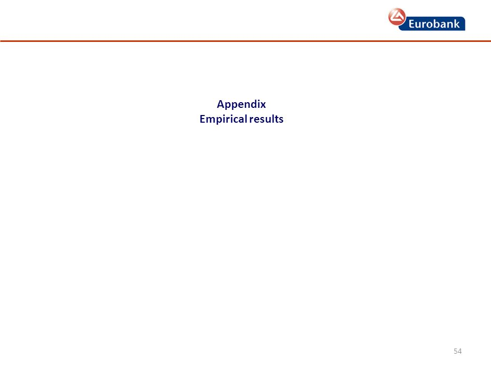 54 Appendix Empirical results