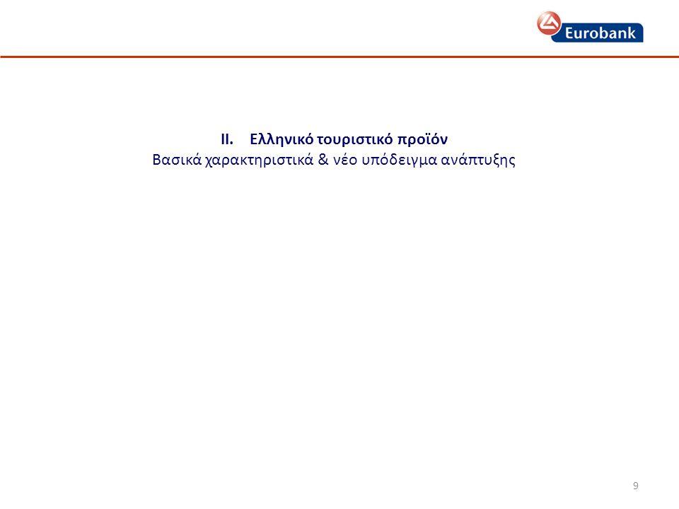 ΙΙ. Ελληνικό τουριστικό προϊόν Βασικά χαρακτηριστικά & νέο υπόδειγμα ανάπτυξης 9