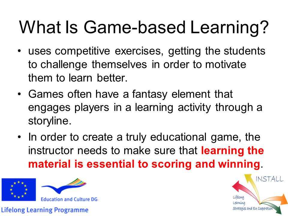What Is Game-based Learning.