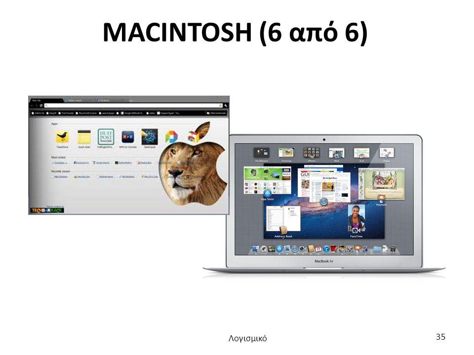 MACINTOSH (6 από 6) Λογισμικό 35