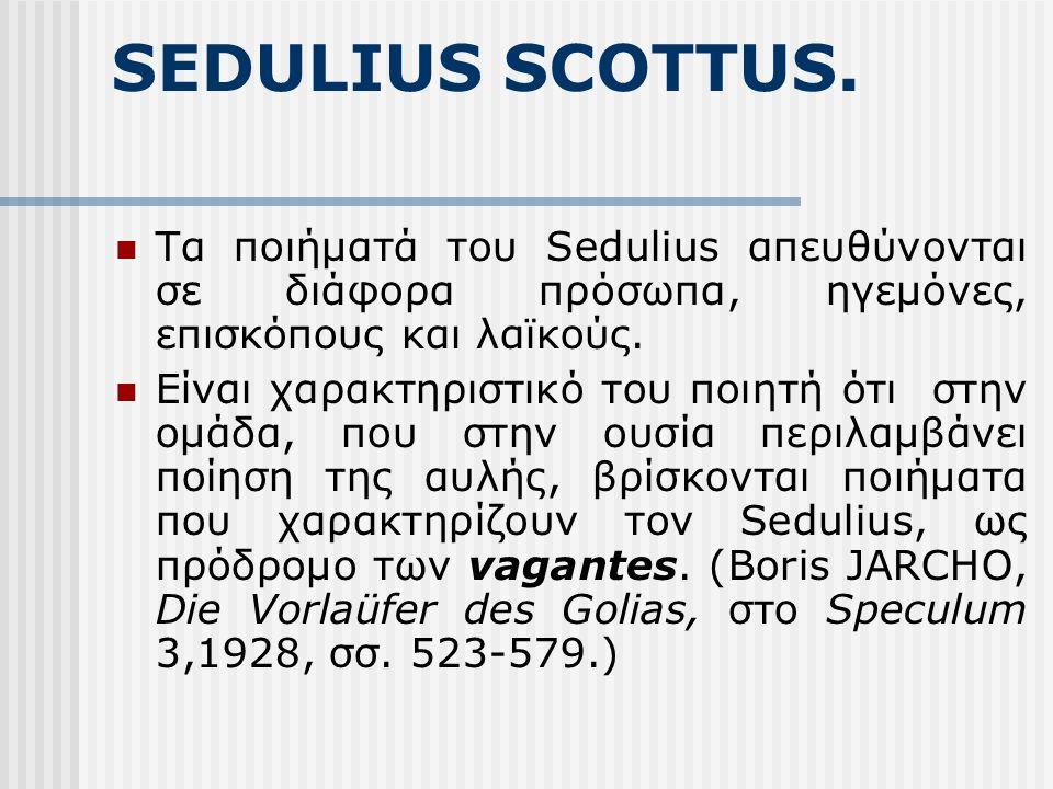 SEDULIUS SCOTTUS.