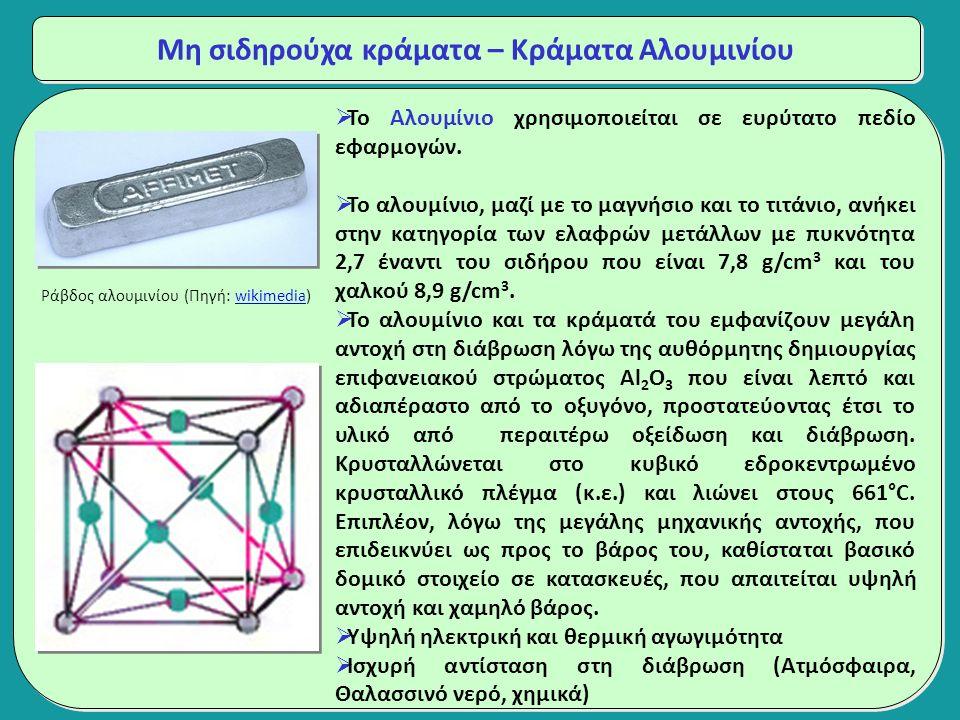  Το Αλουμίνιο χρησιμοποιείται σε ευρύτατο πεδίο εφαρμογών.