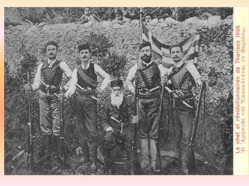 Το 1908 τρία χρόνια μετά οι Κρητικοί επαναστατούν ξανά και κηρύσσον την ένωση με την Ελλάδα.