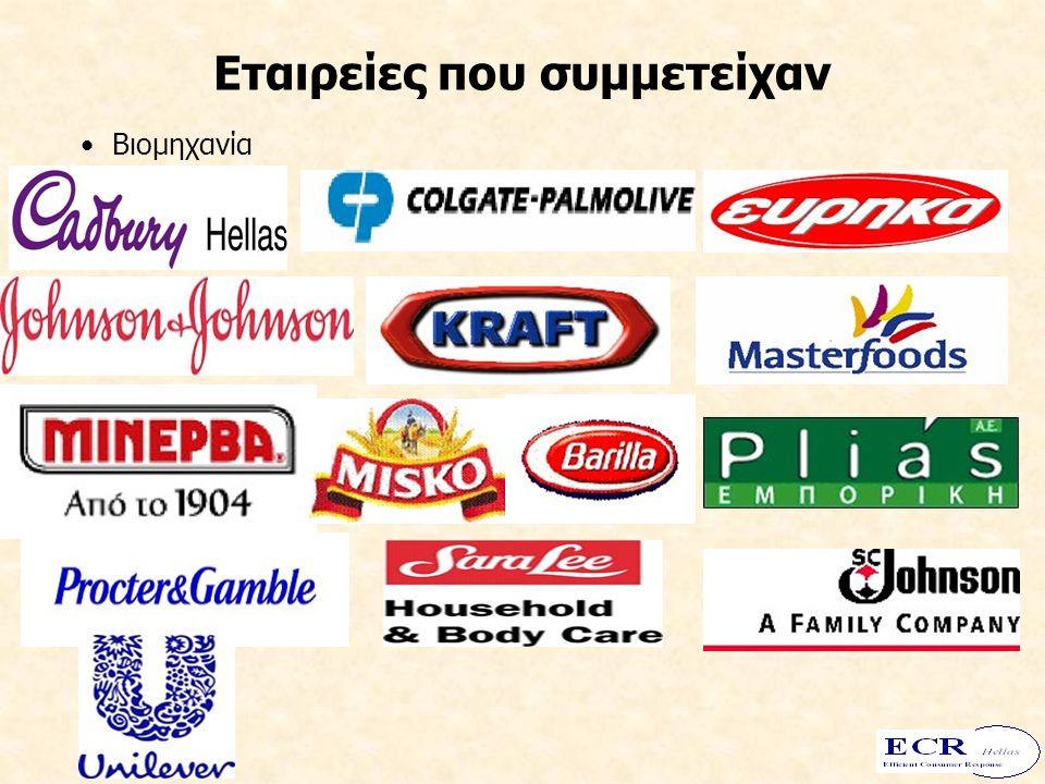 Εταιρείες που συμμετείχαν Σύμβουλοι Λιανεμπόριο