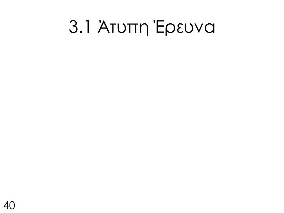 3.1 Άτυπη Έρευνα 40