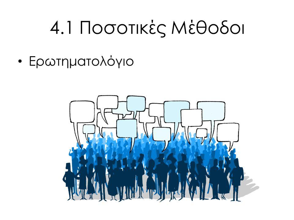 4.1 Ποσοτικές Μέθοδοι Ερωτηματολόγιο