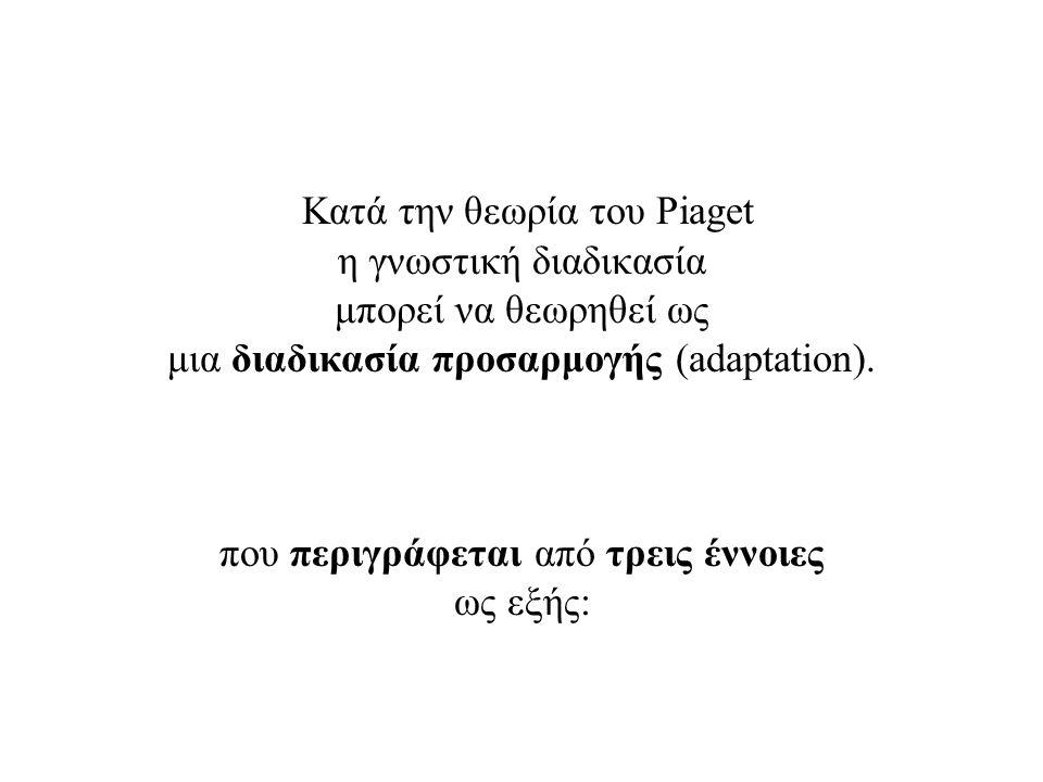 Κατά την θεωρία του Piaget η γνωστική διαδικασία μπορεί να θεωρηθεί ως μια διαδικασία προσαρμογής (adaptation).