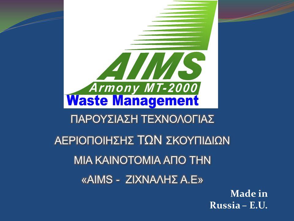 Οικονομικά μεγέθη Ένα συγκρότημα THERMOLYSIS GASIFICATION περιλαμβάνει: - Χοάνη παραλαβής αποβλήτων.