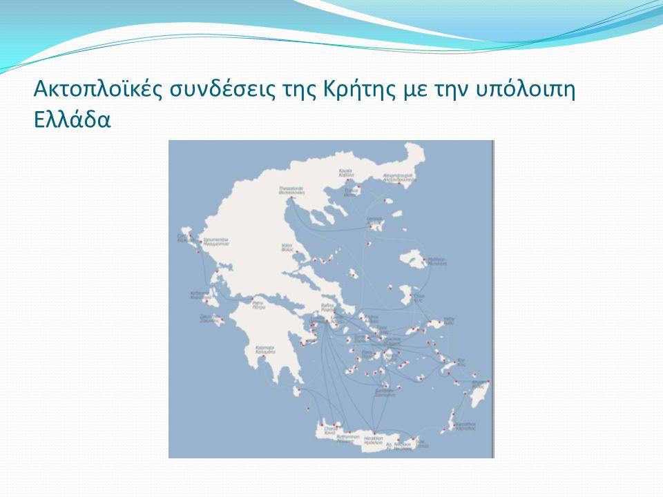 Ακτοπλοϊκές συνδέσεις της Κρήτης με την υπόλοιπη Ελλάδα
