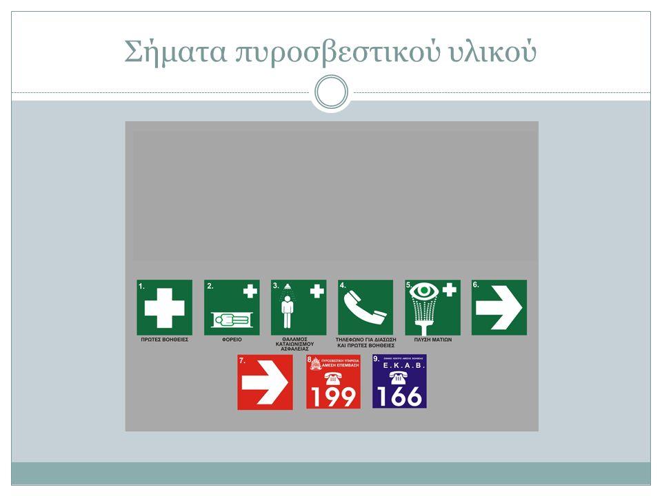Σήματα πυροσβεστικού υλικού